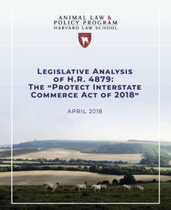 Front cover of the legislative analysis of H.R. 4879 report